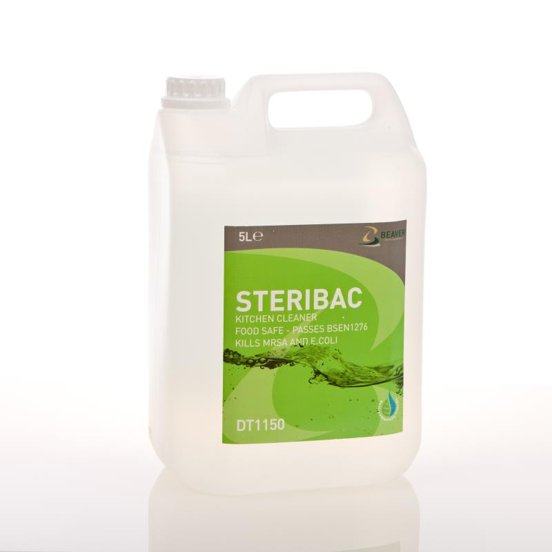 STERIBAC Kitchen Cleaner, Food Safe and BSEN1276 Approved