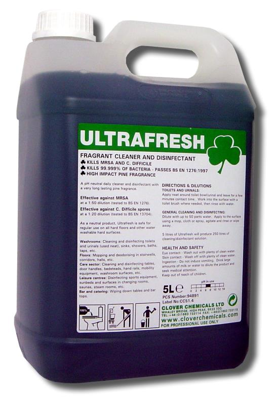Cleaner Disinfectant Perfumed Ultrafresh 5l Enviroclean
